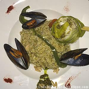 cabillaud-risotto-pesto