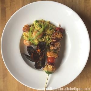 brochette-espadon-risotto