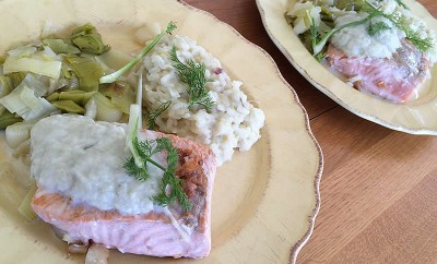 saumon-risotto-fenouil