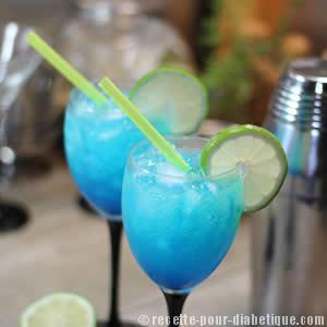 Cocktail Blue Virgin Sans Sucre Et Sans Alcool