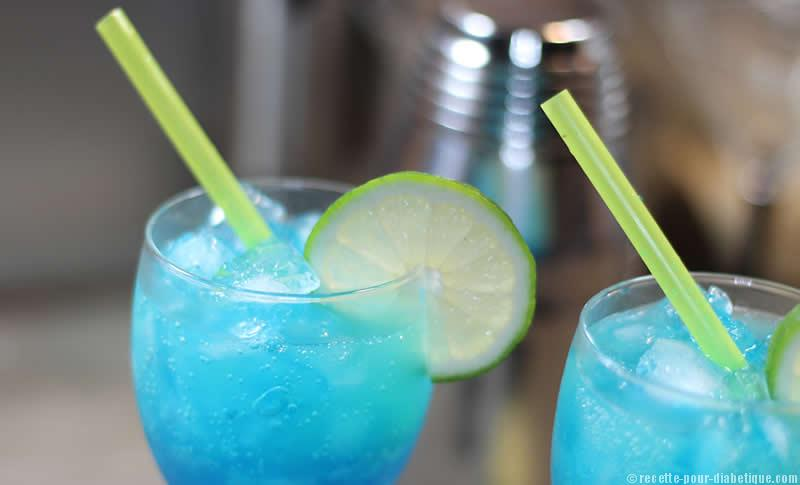 Cocktail Blue Virgin Sans Sucre Et Sans Alcool