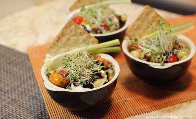 Salade de gnocchis for Repas du soir original