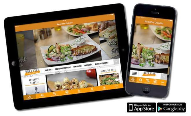 Lapplication Mobile De Recettes Pour Diabétiques - Appli cuisine