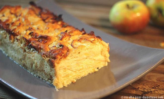 gâteau invisible aux pommes sans gluten et sans sucre ajouté