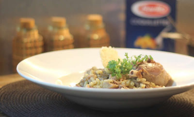risotto-coquillettes-cepes-canard