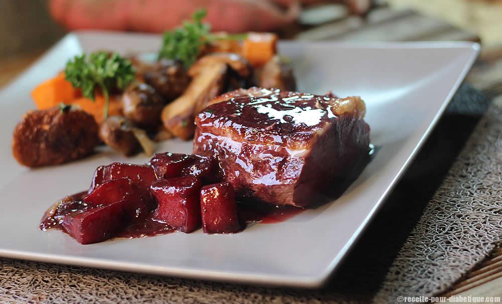 magret cuisson basse temp rature au confit de pommes au vin rouge. Black Bedroom Furniture Sets. Home Design Ideas