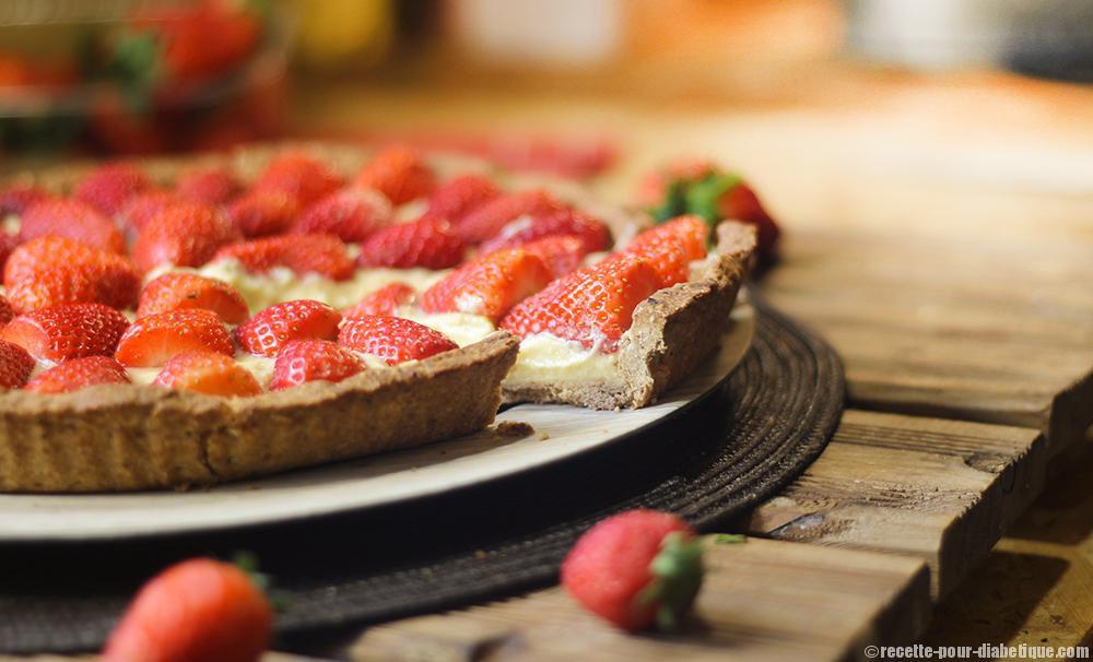 tarte aux fraises sans lactose et ig bas. Black Bedroom Furniture Sets. Home Design Ideas