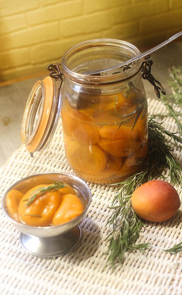la recettes des abricots au sirop sans sucre