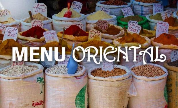 menu oriental
