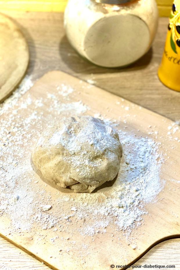 pâte à pizza farine complète