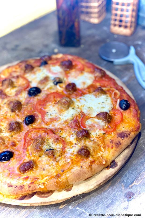 pizza merguez farine semi complète